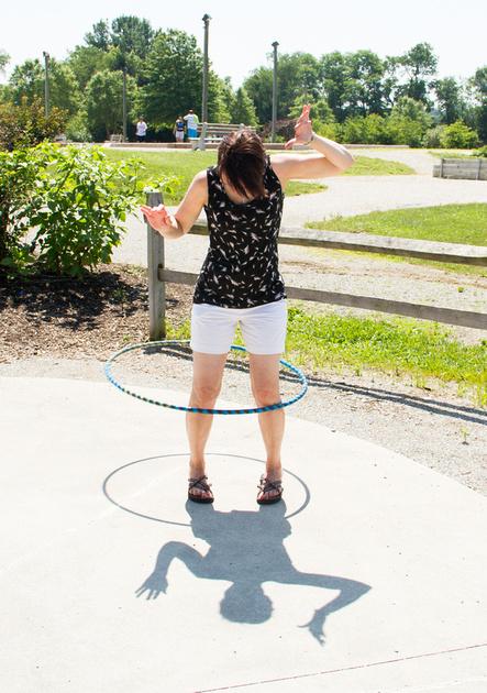 Diane hooping.