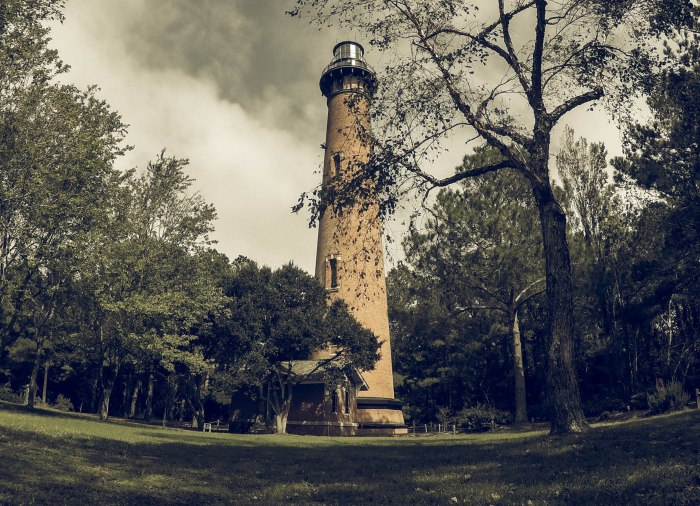 Currituck Sound Lighthouse. GoPro camera, adjusted in Lightroom.