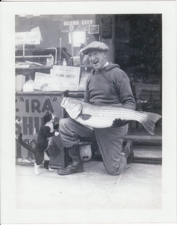 Harry Gottlieb and his catch.
