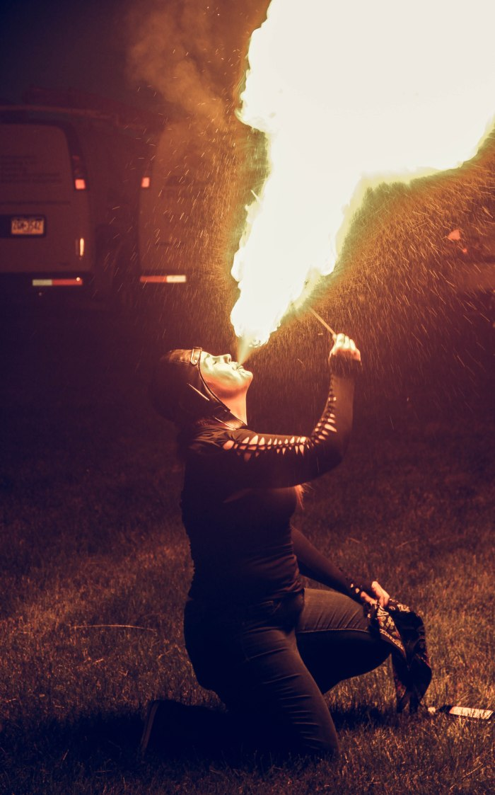 More fire breathing!