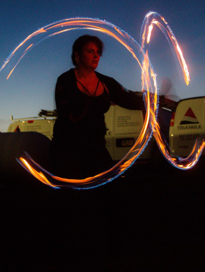 Shapes with fire